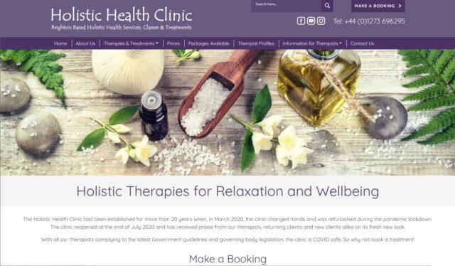 Health and wellbeing website design, Brighton