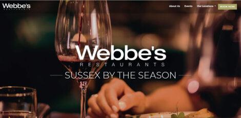 Webbes Restaurants ecommerce